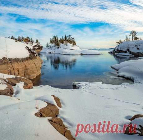 Зимний день на Ладожском озере. Автор фото – Фёдор Лашков: nat-geo.ru/community/user/27502 ❄