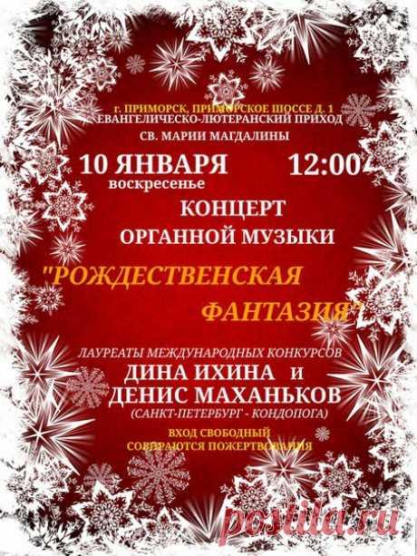 La foto #1 - el Concierto de la música de órgano en Primorske. El dúo de órgano Denis Mahankov y Dina Ihina.