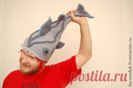 шапка-рыба (по нажатию на картинку - можно купить на Ярмарке мастеров)