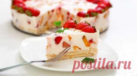 Йогуртовый торт без выпечки - рецепт с фото - Дом Десертов