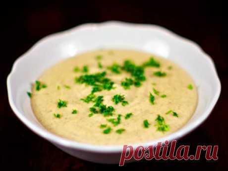 Суп-пюре с шампиньонами и плавленым сыром