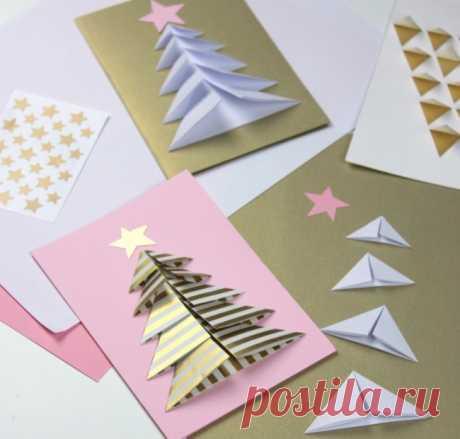 De 40 tarjetas milagrosas de Año Nuevo, que se puede hacer de lo que al alcance de la mano