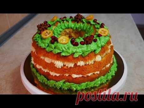 РОЖДЕСТВЕНСКИЙ торт ВЕНОК украшение БЕЗ насадок