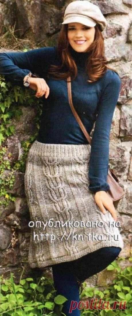 Меланжевая юбка, Вязание для женщин