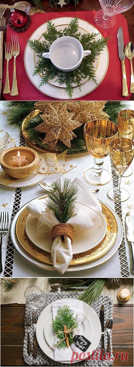 Новогодний стол и его сервировка