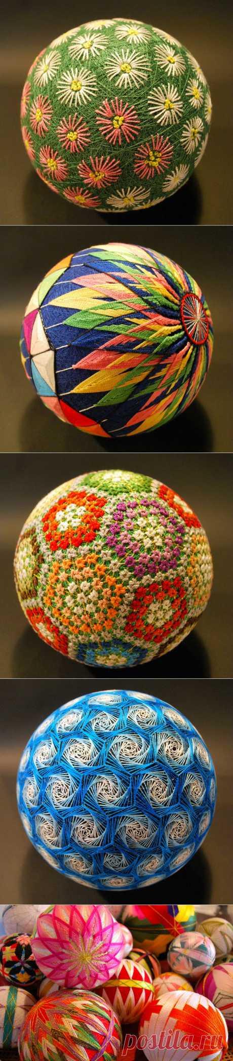 Уникальные шары тэмари от 92-летней мастерицы | Искусство