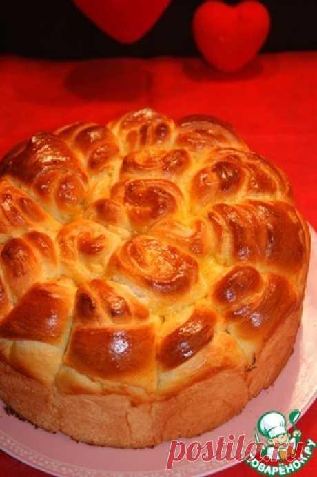 Elegant rich pogacha - the culinary recipe