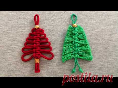DIY 🎄 ARBOLITOS 🎄 de NAVIDAD en MACRAME (paso a paso) | DIY Macrame Christmas Tree Ornament - YouTube