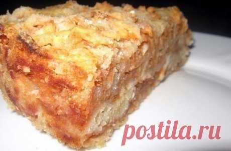 Как приготовить сыпучий и очень вкусный пирог с яблоками - рецепт, ингредиенты и фотографии