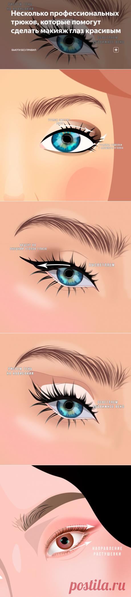 Несколько профессиональных трюков, которые помогут сделать макияж глаз красивым | Бьюти Без Правил | Яндекс Дзен