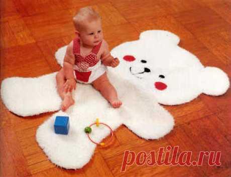 Выкройка коврика Мишка для детской комнаты