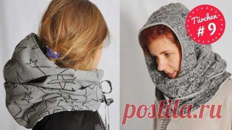 Капюшон-шарф 2 размера - взрослый и детский