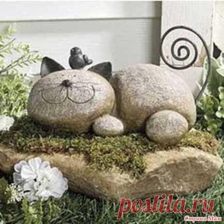 Каменный кот для сада)
