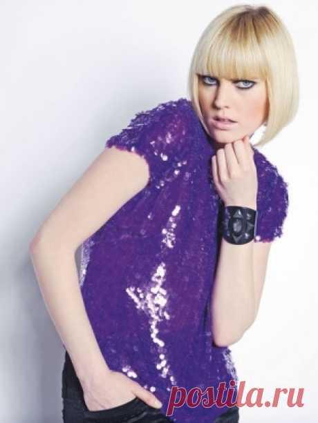 Блузка-топ - выкройка № 107 из журнала 9/2008 Burda – выкройки блузок на Burdastyle.ru