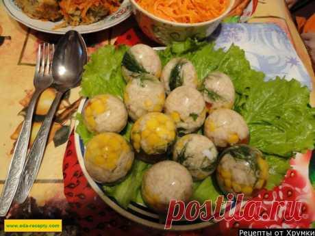 Заливные яйца с рыбой и ветчиной рецепт с фото - 1000.menu