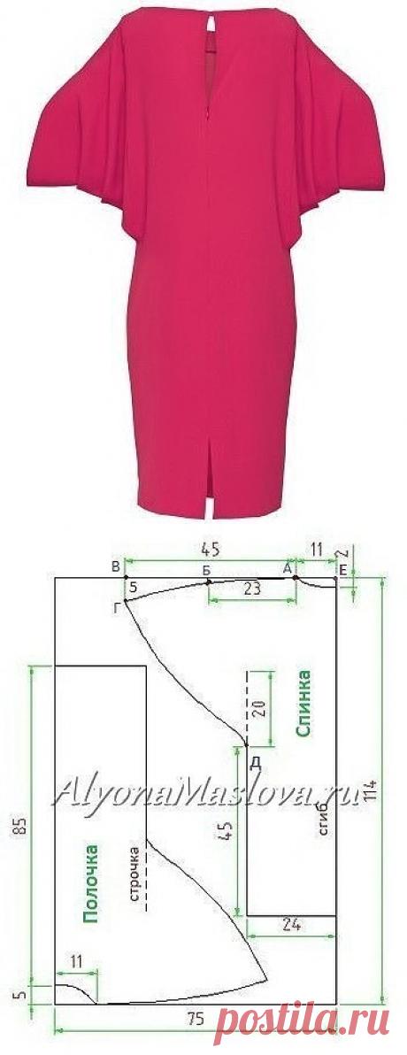 Платье, которое легко выкроить и сшить даже новичку — Сделай сам, идеи для творчества - DIY Ideas
