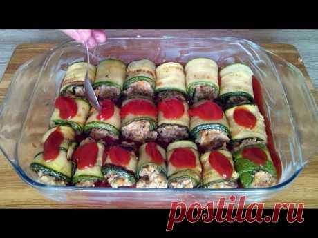 Это объедение! Мясные рулетики из цукини! / Zucchini rolls!