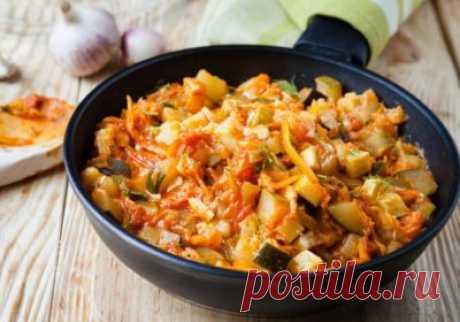 Овощное рагу с курицей | Мир рецептов