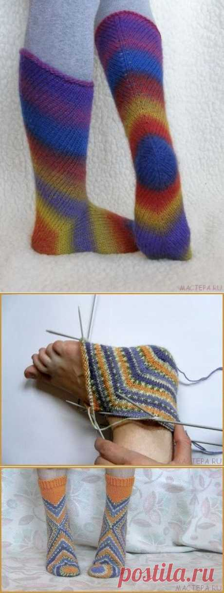 Необычные носки. Вязание на спицах.