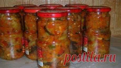 Eggplants for the winter with vegetables fast without sterilization