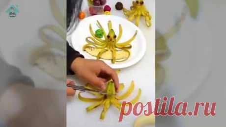 Фигурки из фруктов и овощей   Детские блюда   Салаты   Закуски
