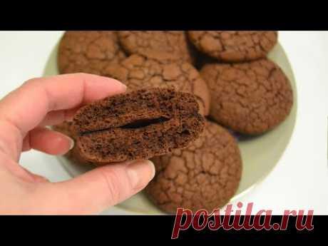 Вкусное ШОКОЛАДНОЕ печенье с трещинками