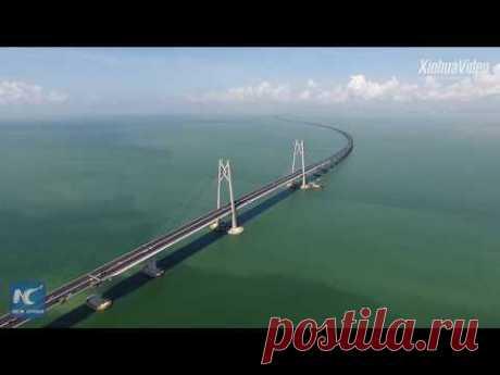 В Китае почти достроили длиннющий мост над водой