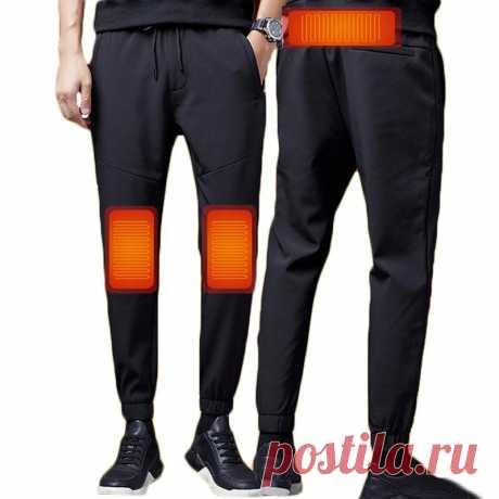 Tengoo 3-gears control men usb electric heated pants thermal warm hiking trouser outdoor heating trousers for winter sports Sale - Banggood.com