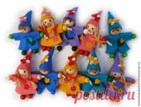 Мастерим цветочных куколок для декора с детьми - Ярмарка Мастеров - ручная работа, handmade