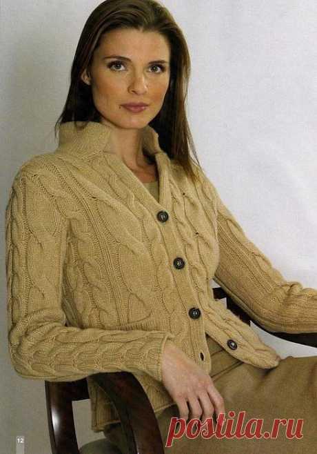 Вязание спицами для женщин Жакет