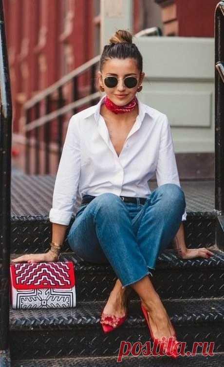 Белая рубашка: 9 стильных образов с самой модной вещью сезона   Люблю Себя