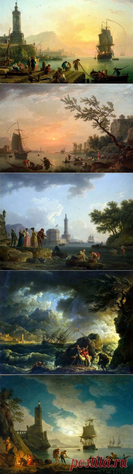 Французский живописец восемнадцатого века Клод Жозеф Верне..