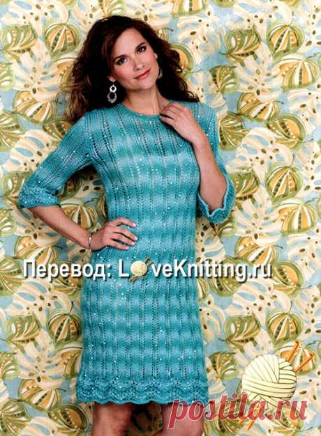 Платье с каймой   ВЯЗАНИЕ - LoveKnitting.ru   Яндекс Дзен