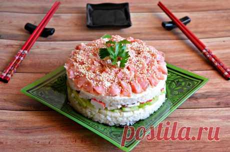 Суши торт салат рецепт с фото пошагово и видео - 1000.menu