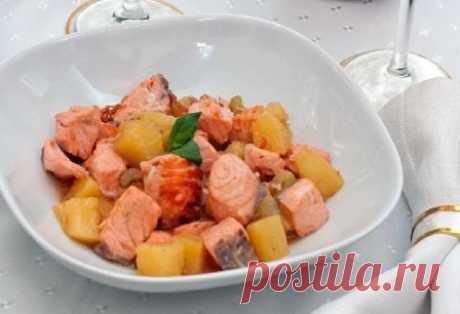 Быстрое, вкусное, легкое блюдо… Жареный лосось с ананасами — Вкусные рецепты