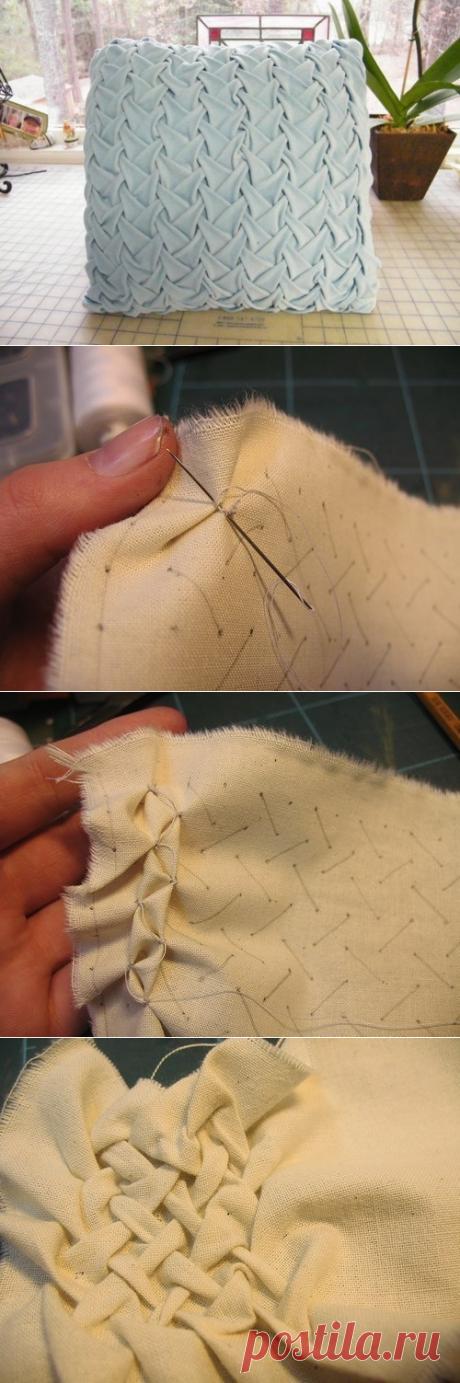 Как сделать буфы на подушке