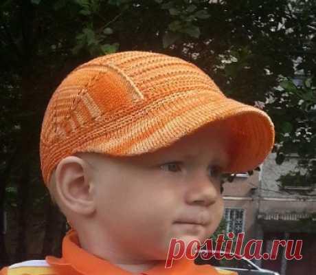 Кепка для мальчика 2х лет Модели вязания для детей | Вязание для детей спицами и крючком.