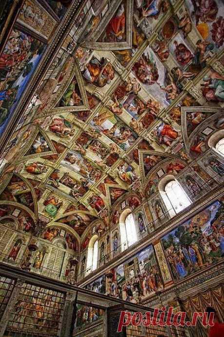 Interior of the Sistine Chapel. Rome, Italy  |  Pinterest