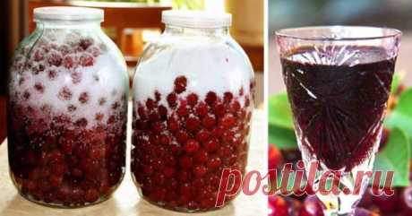 How to make cherry brandy from 3 ingredients. A way, which a sin not to use during a season.