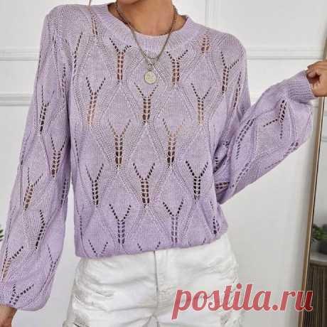 Легкий пуловер спицами