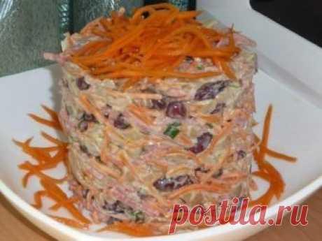Как приготовить салат фасолинка - рецепт, ингредиенты и фотографии