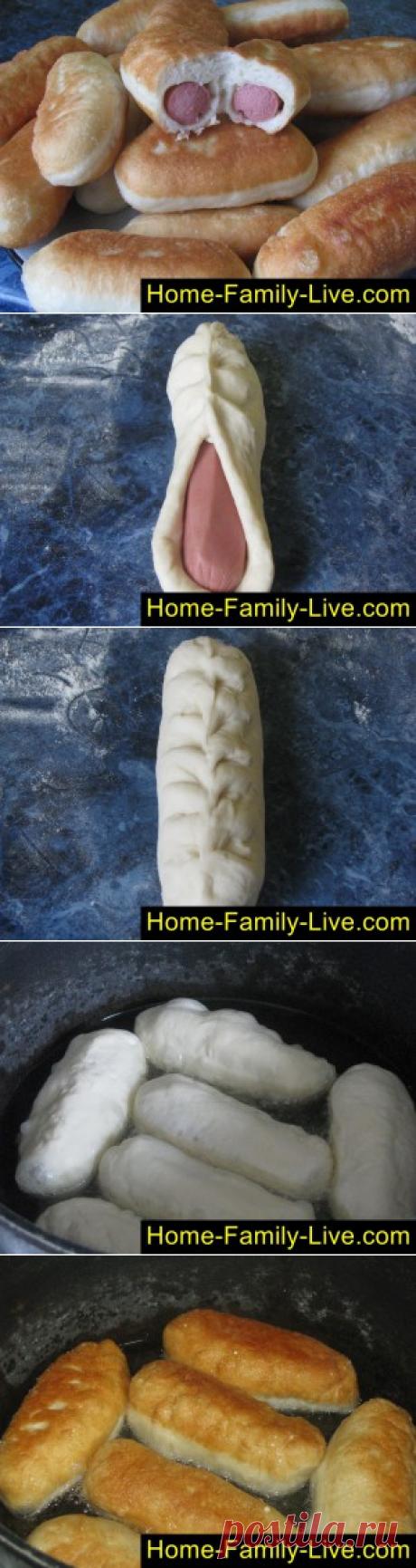 Сосиски в тесте - пошаговый фоторецептКулинарные рецепты
