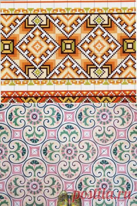Обережная вышивка с примерами схем и значением символов | Журнал Ярмарки Мастеров