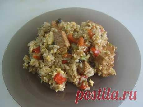 Рис с овощами, жареный рис. Маринкины творинки