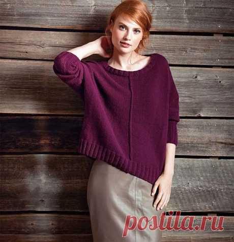 Женские пуловеры оверсайз лицевой гладью спицами – 3 схемы вязания с описанием и МК видео