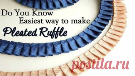 Do you know Easiest Way to make Pleated Ruffle | Knife Pleat Ruffle | Box Pleat Ruffle