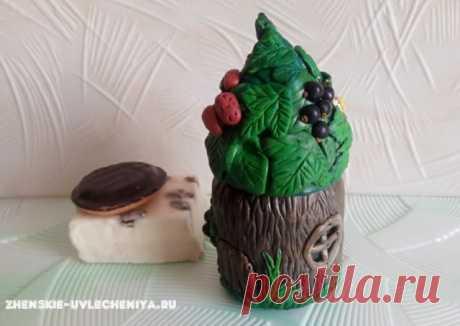 Декор банки полимерной глиной: домик для специй или шкатулка своими руками