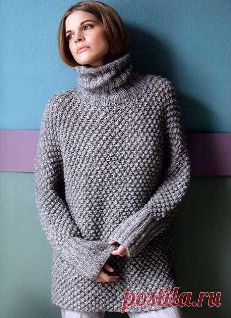 3 свитера узором шиповник спицами