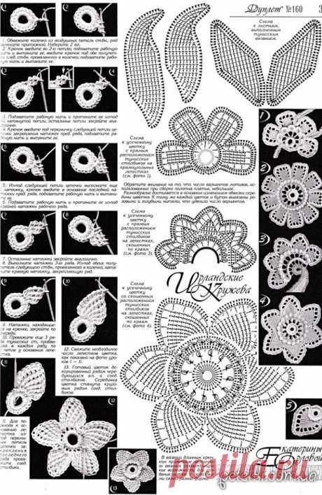 La flor hermosa en la técnica de Tunicia. Como tejer