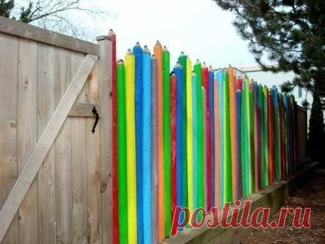 Забор-карандаши
